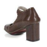 Sapato Em Couro Galeany Coffee J.Gean
