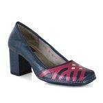 Sapato Em Couro Navy J.Gean AR0161