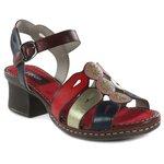 Sandália em Couro Marjorie Vermelha J.Gean