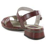 Sandália em Couro Emily Vermelha J.Gean