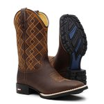 Bota Texana Orange Chess