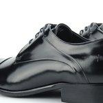 Sapato Social Derby Masculino Preto Couro Legítimo Monbran Dressy Jack 032300P