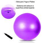 Kit Bola Suíça 55cm Anel de Pilates e Bola de Peso 3kg
