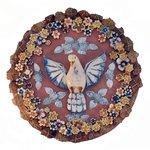 Divino Espírito Santo Mandala com Cristais 60 cm.