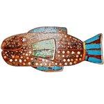 Painel Talha de Peixe Azul com Apliques