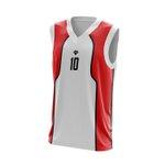Camisa Regata Vermelha com detalhes branco basquete
