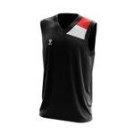 Camisa Regata Preta com detalhes no ombro
