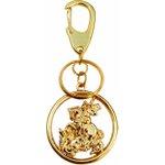 Chaveiro de São Jorge Dourado Vazado