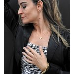 Gargantilha Veneziana de Coração Ouro 18K cravejada com Zircônias