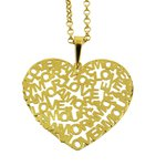 Pingente Coração Vazado em Ouro 18K