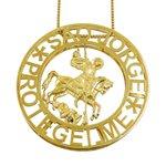 Mandala em ouro 18k Grande São Jorge