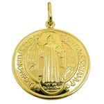 Medalha de São Bento em Ouro 18K GG