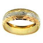 Anel Escrava Egípcio 3 Tons de Ouro 18K