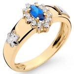 Anéis de Formatura Administração Feminino em Ouro 18k com Pedras Sintéticas