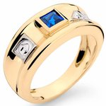 Anéis de Formatura Administração em Ouro 18K com Pedras Naturais