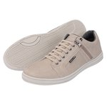 Sapato Casual Masculino com zíper Lateral Areia