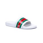 CHINELO SLIDE GUCCI BRANCO