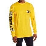 Camiseta Masculina Manga Comprida c/ Proteção UV - Amarelo