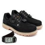 Sapato Caterpillar + Cinto Couro - Preto