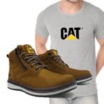 Bota Zip One Osso + Camiseta Cinza