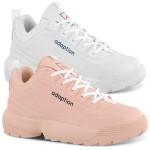 Kit 2 Pares Tênis Feminino Adaption Sneaker Bridge Rosa/ Branco