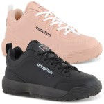 Kit 2 Pares Tênis Feminino Adaption Sneaker Bridge Preto/ Rosa