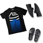 Kit Camiseta Gradient Tênis e Chinelo Adaption Preto