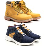 Kit Bota Caterpillar Second Shift Nobuck + Tênis Jhon Boots Yeezy 360°