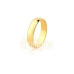 Par De Alianças De Ouro Amarelo 10k