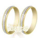 Alianças De Bodas Em Ouro Amarelo 18k 0,750 Fa-247