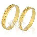 Alianças de Bodas em Ouro Amarelo 18k 0,750 FA-225