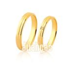 Alianças de Ouro 10k com diamantes