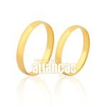 Par De Alianças De Ouro 10k