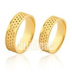 Alianças de Noivado e Casamento em Ouro Amarelo 18k 0,750 FA-1011