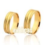 Alianças de Noivado e Casamento em Ouro Amarelo 18k baratas
