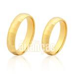 Alianças de Noivado e Casamento em Ouro Amarelo 18k 0,750 FA-205