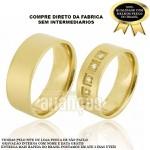 Alianças de Noivado e Casamento em Ouro Amarelo 18k 0,750 FA-658
