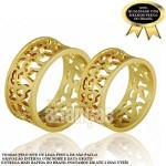 Alianças de Noivado e Casamento em Ouro Amarelo 18k 0,750 FA-718