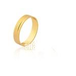 Linda Aliança de Noivado e Casamento em Ouro Amarelo 18k