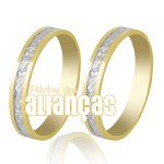 Alianças de Bodas em Ouro Amarelo 18k 0,750 FA-236