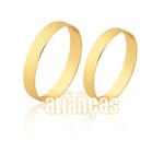 Alianças finas em ouro Amarelo 10k