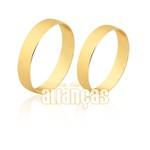 Alianças simples e delicada com ouro 10k