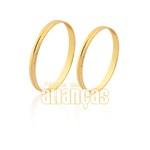Aliança de ouro 10K barata + frete grátis