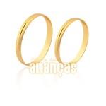 Alianças de ouro 10k diamantadas