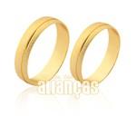 Alianças em ouro 10k diamantada
