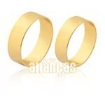 Lindas Alianças de Casamento em Ouro Amarelo 10k