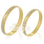 Alianças de Bodas em Ouro Amarelo 18k 0,750 FA-231