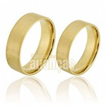 Alianças de Noivado e Casamento em Ouro Amarelo 18k 0,750 FA-282