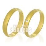 Alianças de Noivado e Casamento em Ouro Amarelo 18k 0,750 FA-338