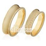 Alianças de Noivado e Casamento em Ouro Amarelo 18k 0,750 FA-407-Z